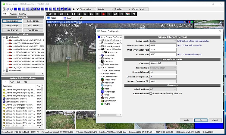 Best Free IP Camera Software Genius Vision Screenshot