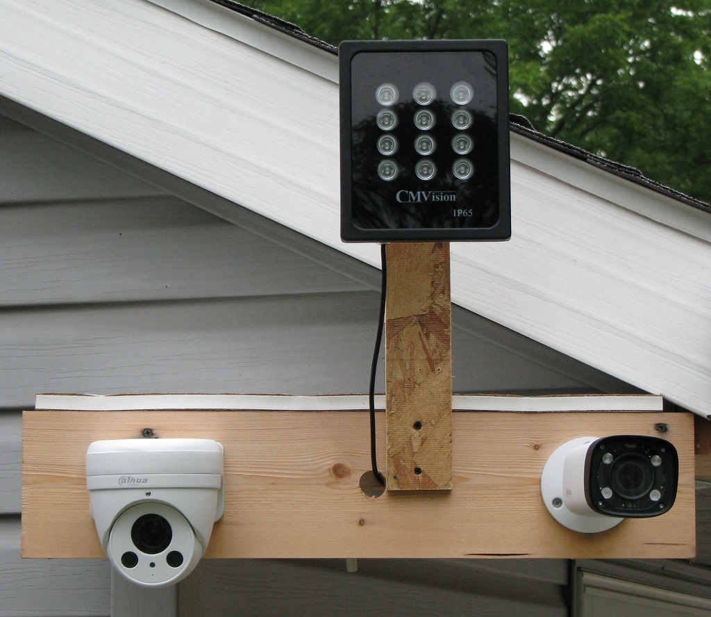 Camera and IR illuminator test platform