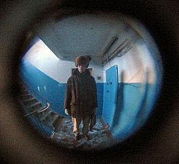 door peephole view