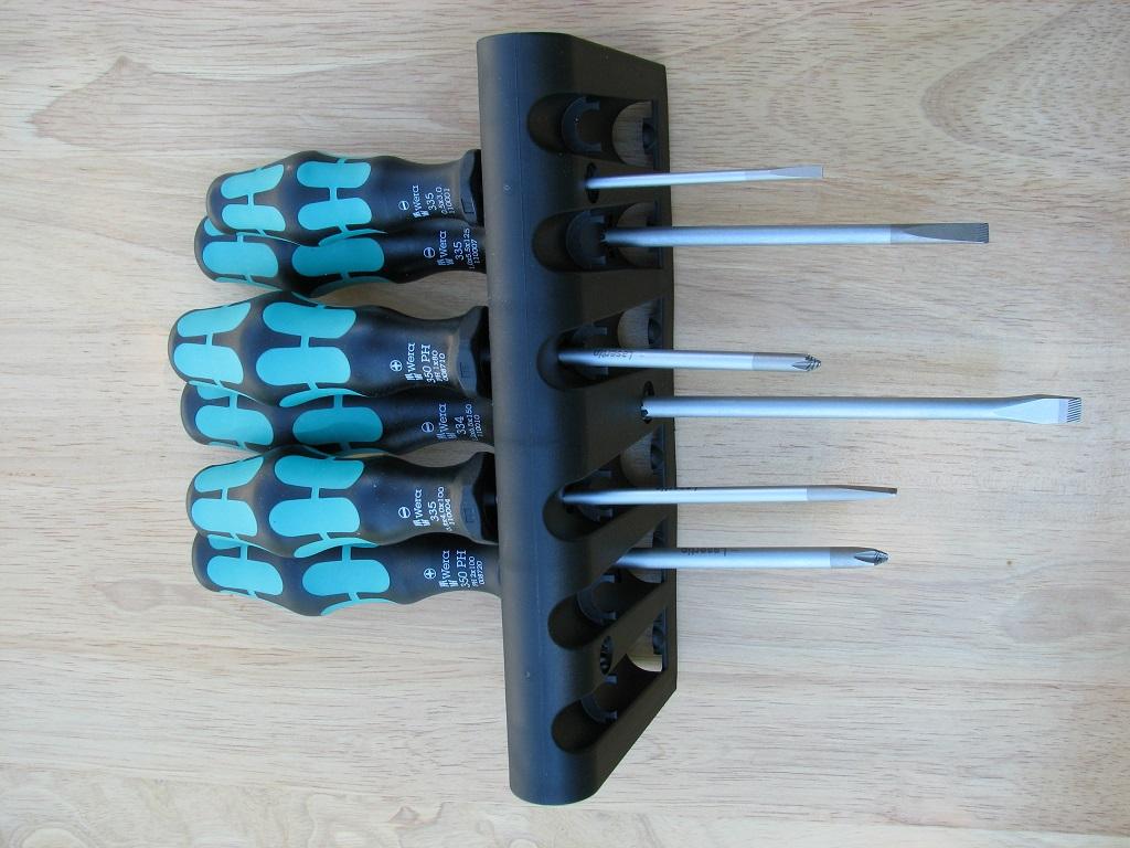Wera screwdriver set in holder