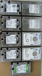 Old Unused Desktop Hard Disk Drives